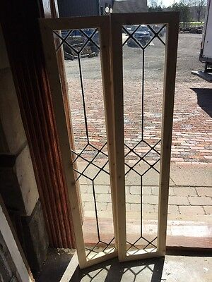 Sg 1367 1Available Price Each Antique Leaded Glass Transom 9.5 X 45