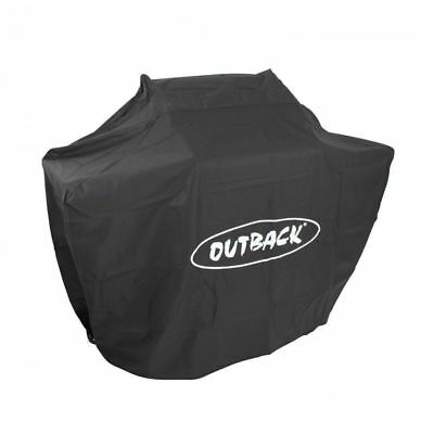 Outback Premium Heavy Duty Waterproof Black BBQ Cover for Meteor 4 Gas Barbecue