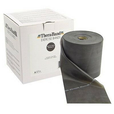 Thera-Band Exercise Band-100 Yard Roll-Black-Special Heavy-