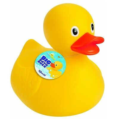Toysmith Big Bath Duck Toy Floats and Squeaks 8.5-inch Tall in Yellow New