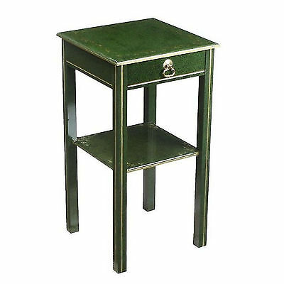 Green Gilded Marble Trompe l'oeil Bedside Night Stand Table Art Deco 1900-1950