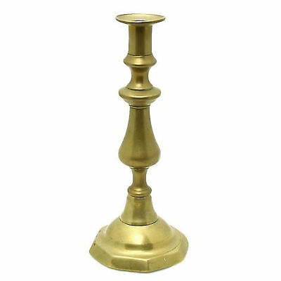 Original Old Antique Victorian Brass Medieval Revival Gothic Candle Candlestick