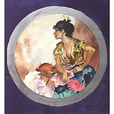 Original Holloway Watercolour Cecilia in June after Sir William Russell Flint