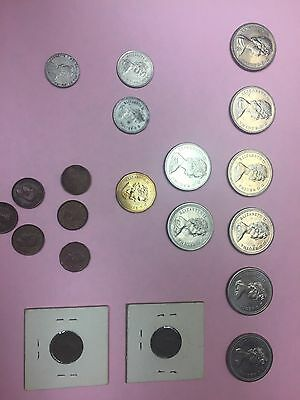 Lot of Canadian Coins 1931 - 2004 dollars, quarters, pennies, etc