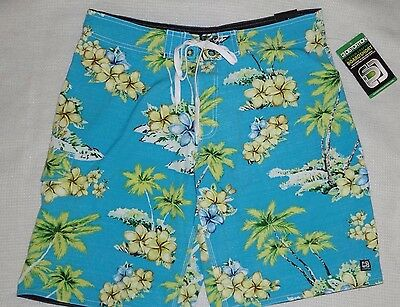 """NWT Distortion Mens Board Surf Shorts Swimsuit  Size L 34"""" / 35"""" Stretch Fabric"""