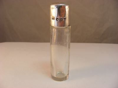 Scent bottle with solid silver top, Birmingham 1901, Charles May