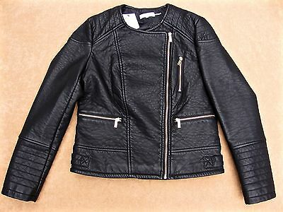 Women's Calvin Klein Faux Leather Moto Jacket Size L New with Tags