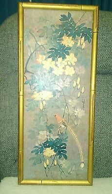 Antique Chinese or Asian signed watercolor painting