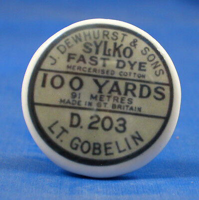 1 inch China Collectable Sewing Button -- Sylko Fast Dye Cotton