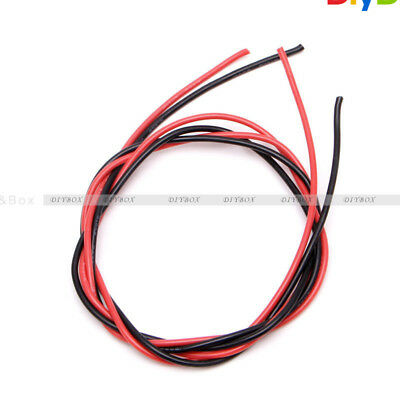 16 AWG Gauge Wire Flexible Silicone Stranded Copper Cables For RC Black Red