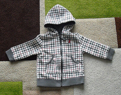 boys checked hoodie light jacket 3-6 months