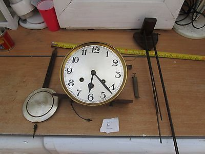 Unknown  Antique  Clock Westminster Movement &  Dial Etc