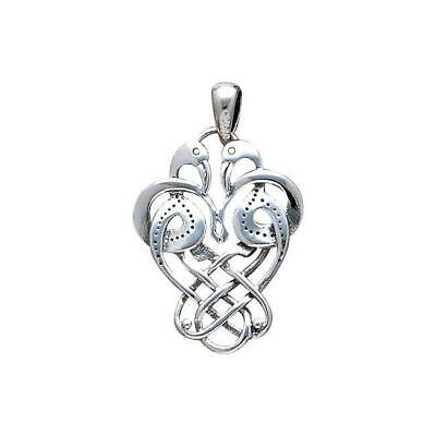 Celtic Knotwork Knots Birds Sterling Silver Pendant by Peter Stone Fine Jewelry