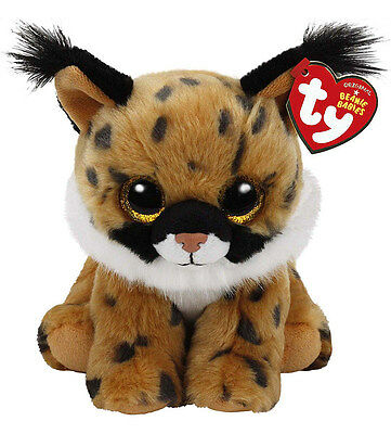 "Larry The Lynx Wild Cat Plush Soft Toy, Velve Ty The Beanie Babies  6"" (15cm)"