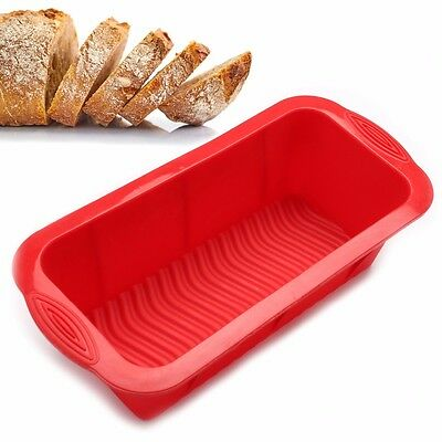 """Bread Mold Silicone Rectangle Loaf Pan Cake Nonstick home made Baking 10"""" x 5"""""""