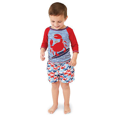 Mud Pie MK7 Boathouse Baby Toddler Boy Crab Swim Trunks 1022111