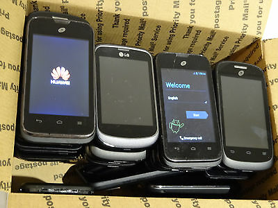 Lot of 45 TracFone Smartphones & Cell Phones Mixed Models Most Power On AS-IS