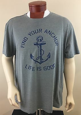 LIFE IS GOOD Men's Find Your Anchor Short Sleeve T-Shirt Size 2XL