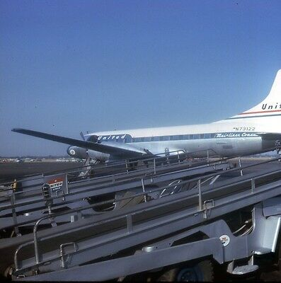 Original Slide:United Airlines CV-340 N73122  on ramp in 1964