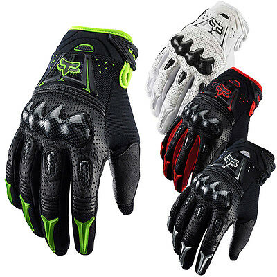 UK Fox Bomber Leather Motorcycle MTB Gloves Outdoor Enduro Cycling Riding