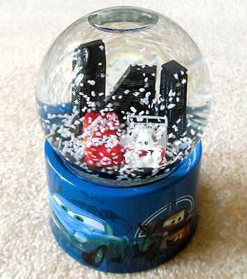 Disney Pixar CARS 2 - Lightning McQueen Musical Snow Globe - With Motion Action