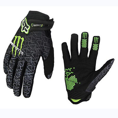 Breathable Fox Full Finger Cycling Gloves Racing MTB Offroad Motocross Gloves