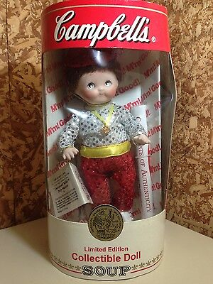 Campbells limited edition collectible doll