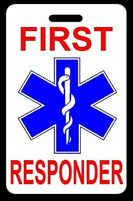 FIRST RESPONDER Luggage/Gear Bag Tag - FREE Personalization - New