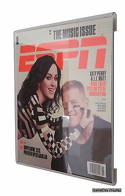 Acrylic ESPN Magazine Display Case Frame Less UV Protecting GameDay Display