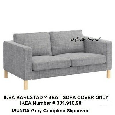 Terrific Ikea Karlstad Loveseat Cover Grey 2 Seat Sofa Slipcover Gmtry Best Dining Table And Chair Ideas Images Gmtryco