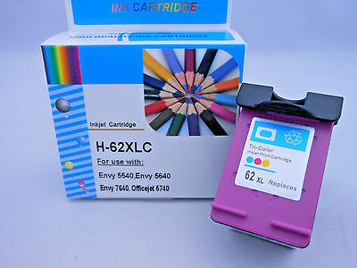HP62XL Color Ink Cartridge for HP Envy 5540 5542 5640 5646 5660 5664 7640 7644