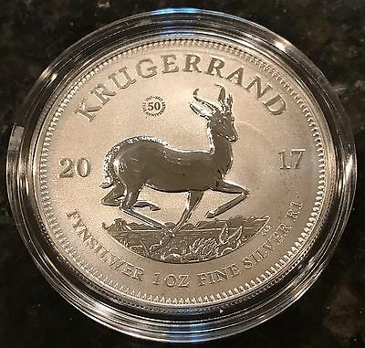 2017 SOUTH AFRICA 1 Oz FINE SILVER 50th ANNIVERSARY COIN~ IN STOCK