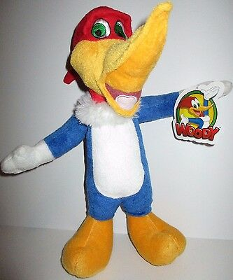 "WOODY WOODPECKER 14"" Plush Doll Toy NEW Universal Studios"