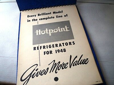 Vintage 1948 Hotpoint Refrigerator Freezer Store Display Advertising