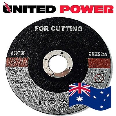 100 discs X 125 mm X 1mm METAL CUTTING DISC THIN GRINDER STAINLESS STEEL CUT OFF