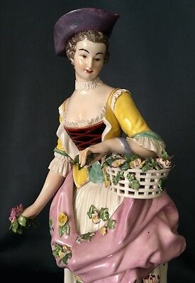 Antique German Dresden Late 18 Century Gotha  Porcelain Figurine Extremely Rare