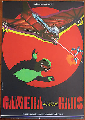GAMERA VS GAOS (GYAOS) Rare Original 11x16 Czech Movie Poster Kaiju Godzilla