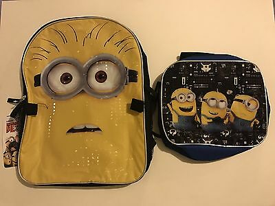 BRAND NEW Kids Despicable Me 3 School Backpack and Lunch Bag Set