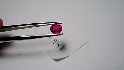 Lively,,gia Certified Transparent Untreated Natural Burma (Mogok) Ruby 1.46 Ct.