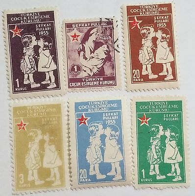 Turkey 1955 Children's Aid Used Stamps.....worldwide Stamps