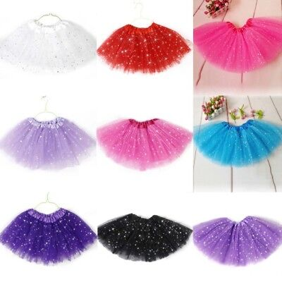 Colorful Princess Tutu Skirt Girls Kids Party Ballet Dance Wear Dress Pettiskirt