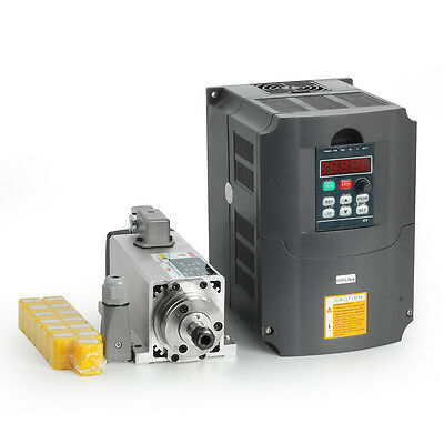 1500W 1.5KW Air Cooled CNC Spindle Motor + Inverter Converter+ 13pc ER11 Collet