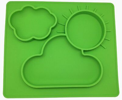 PloveS One Piece All-in-One Silicone Baby Toddler Feeding Placemat