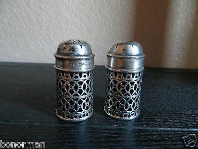 Antique English, London Hallmarked Sterling 1905s.Salt & Peppers Shakers