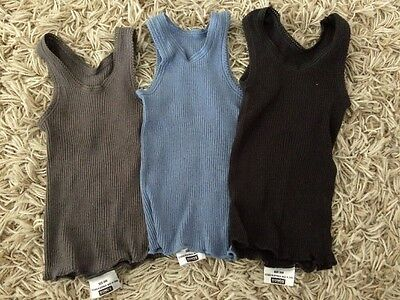 3 x Bonds Baby Cotton Singlets 000