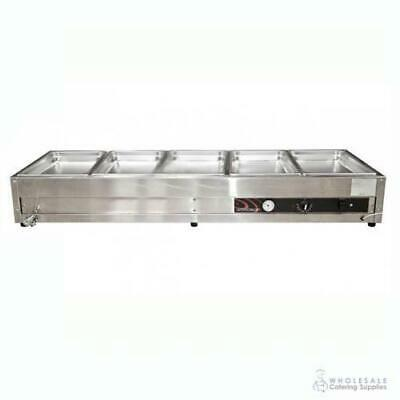 Bain Marie 5 Bay Benchtop Woodson W.BMA25 1680x600x245mm Warmer NO PANS INCLUDED