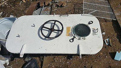 One (1) Used Ship Yacht Boat Marine Watertight Door Hatch With Port Lights Holes
