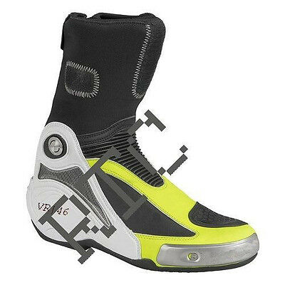 Valentino Rossi VR46 Motorbike Racing Leather Boots