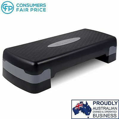 Fitness Exercise Aerobic Step Bench Gym Workout 2 Level Cardio Block Everfit New