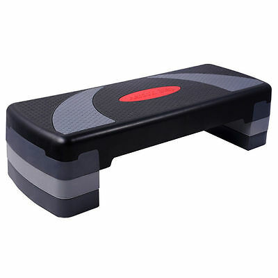 New Step Bench Aerobic Gym Fitness Exercise Level Stepper Block Workout Home